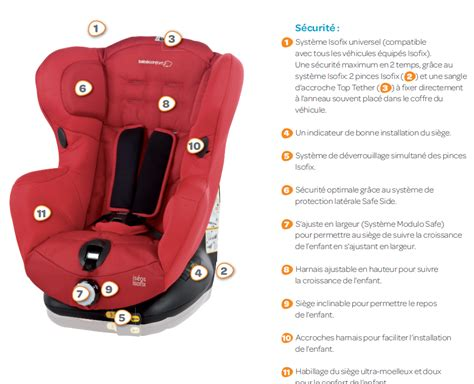 installer siege auto bebe confort bebe confort si 232 ge auto is 233 os isofix gr 1 achat vente