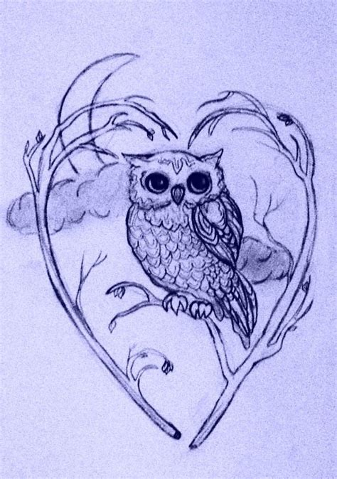 owl tattoo designs owl design i d want a moon with a snow barn