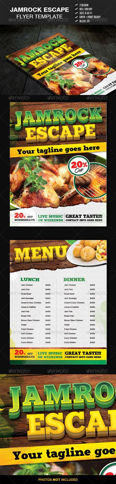 Free Jamaican Food Flyer Template 187 Dondrup Com Free Caribbean Menu Template