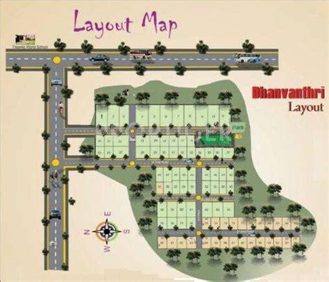 layout plan in bangalore 1200 sq ft plot for sale in madhura estates dhanvanthri