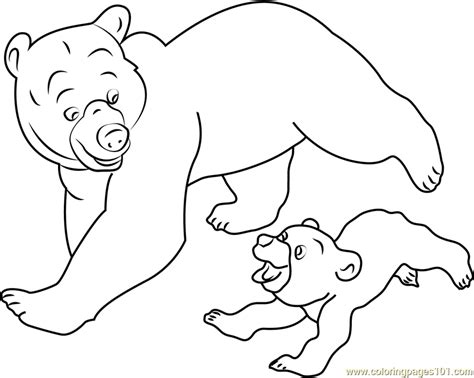 Running Bear Coloring Page | brother bear running coloring page free brother bear