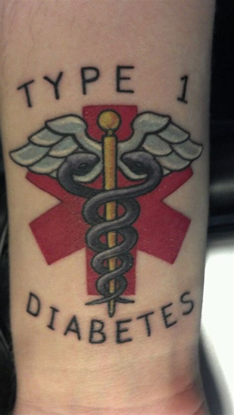 kind of tattoo design type 1 diabetes designs blood type
