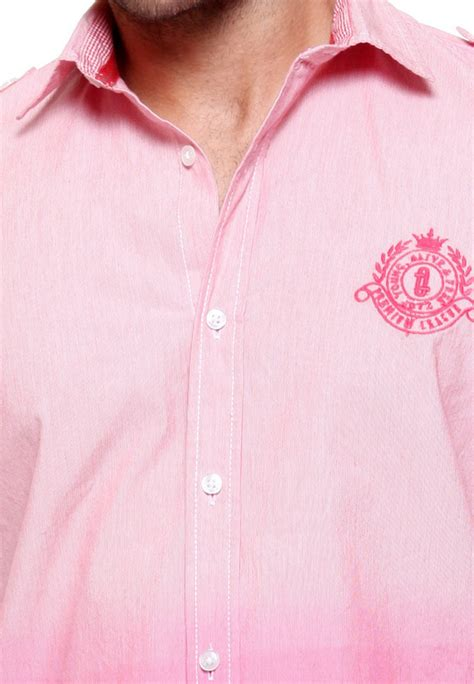 pink combination tog men dark light pink combination casual cotton shirt