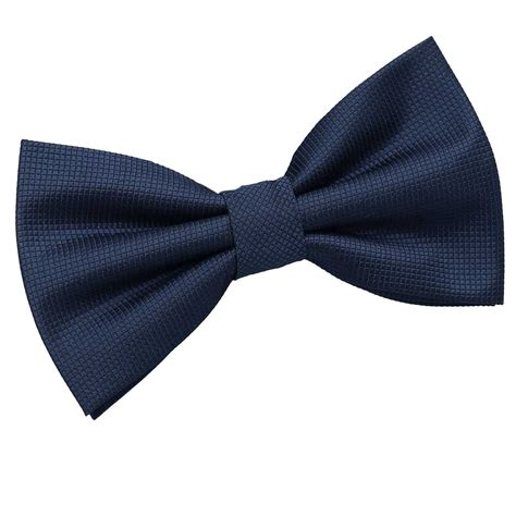 s solid check navy blue bow tie