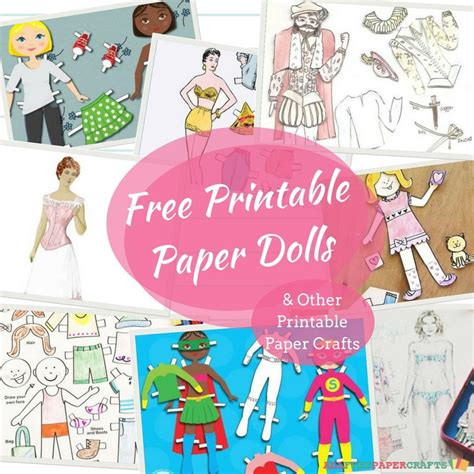 All Free Paper Crafts - 32 free printable paper dolls and other printable paper