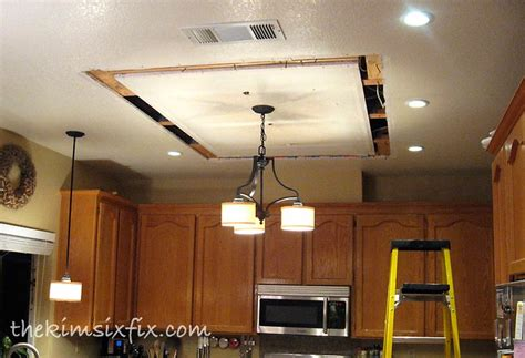 replace kitchen fluorescent light box replacing updating fluorescent ceiling box lights with