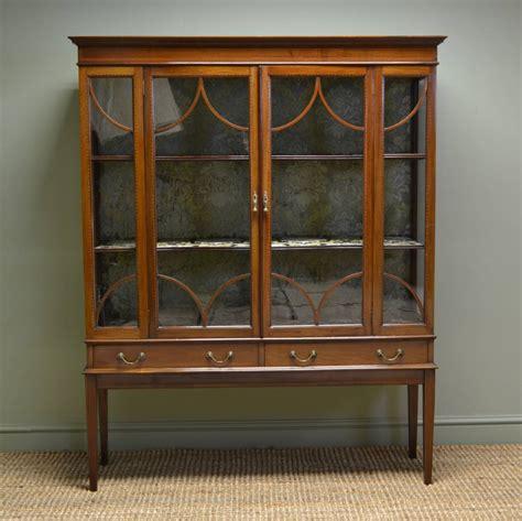 spectacular edwardian inlaid mahogany antique display