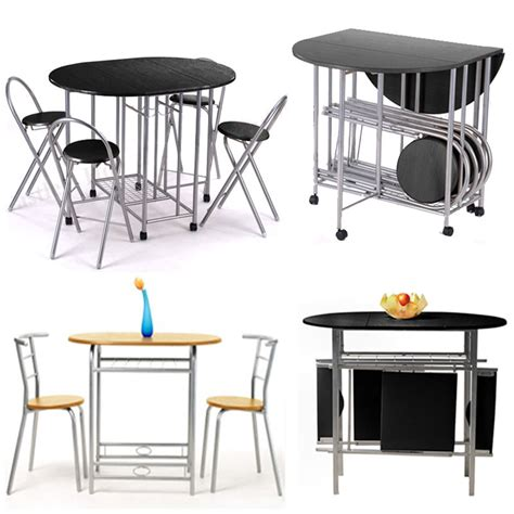 Folding Kitchen Table And Chairs Set Dining Room Table Set And 2 4 Chairs Small Kitchen Extending Folding Furniture Ebay
