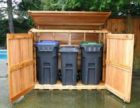 outdoor living today 6x3 oscar trash can storage shed