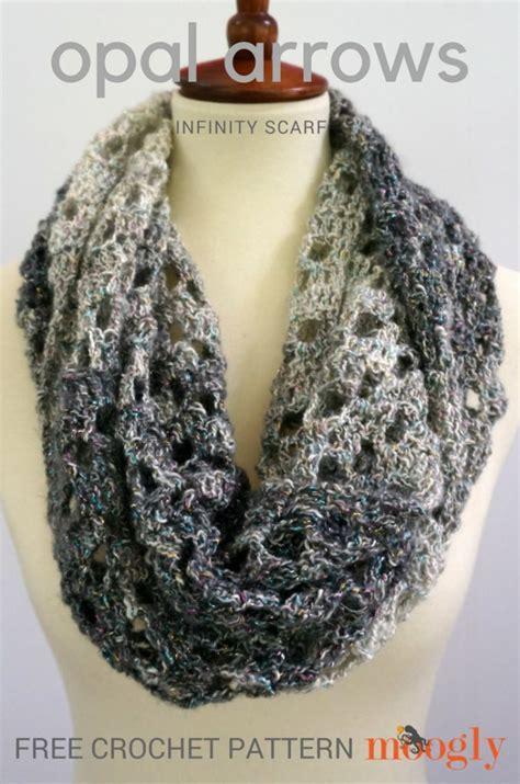 infinity scarf opal arrows infinity scarf free crochet pattern on moogly