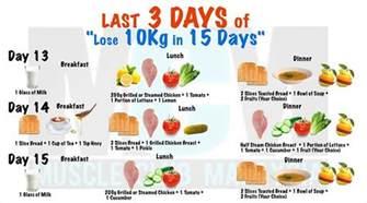 lose 10kg in 15 days diet plan xcitefun net