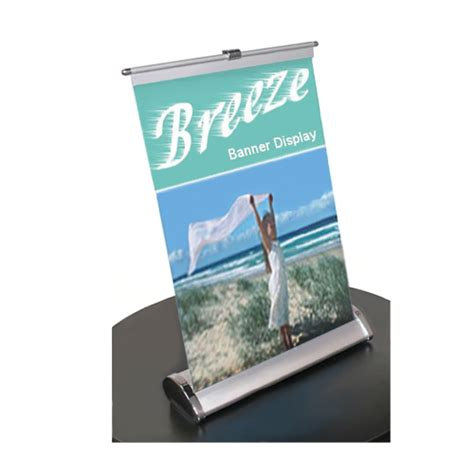 table top banners retractable table top banner stand 11x18 trade show