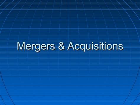 Best Mba For Mergers And Acquisitions by Mergers And Acquisitions