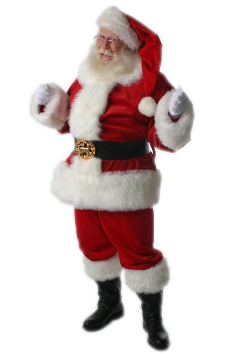 santa claus traditional style suit