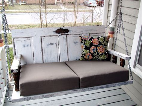 door porch swing porch swing from old doors a guy a girl and a really