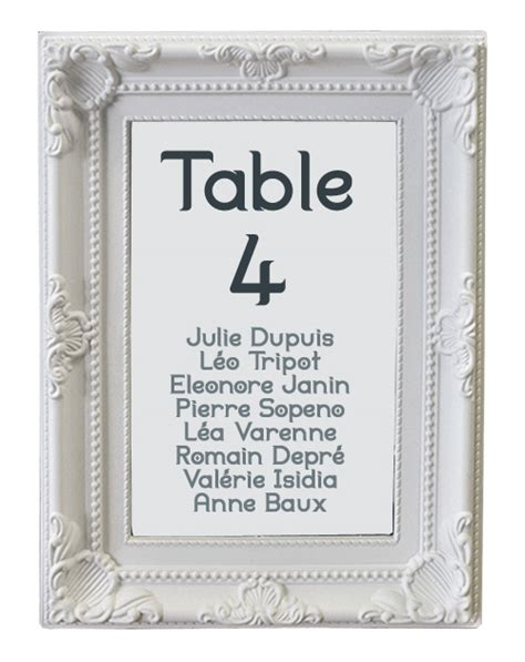 le marque table cadre baroque moulures blanches noel