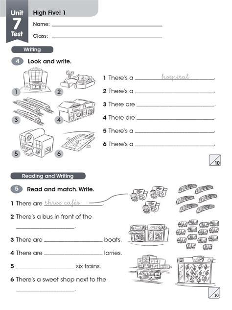 libro high five eng 5 highfive 1 exam unit 7 8