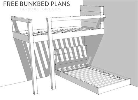 bunk bed plans free 25 best ideas about bunk bed plans on loft