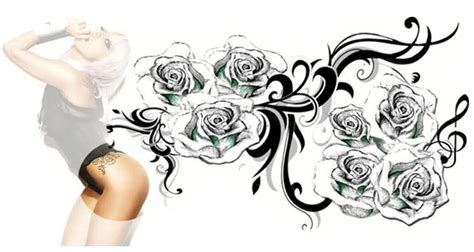 lady gaga rose tattoo large tribal tattoos tattooforaweek temporary
