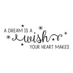 Wall Sticker Mirror dream is a wish amelia wall quotes decal wallquotes com