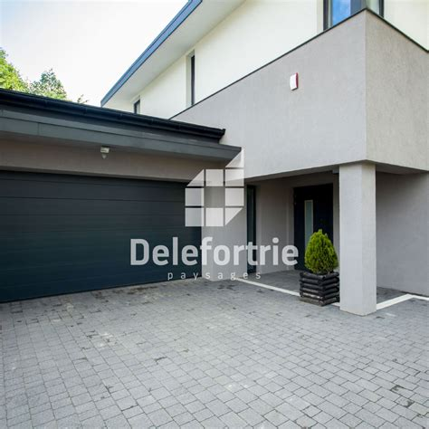 entree de garage am 233 nagement ext 233 rieur entr 233 e de garage delefortrie paysages