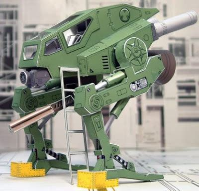Mechanical Papercraft - gunwalker papercraft mech