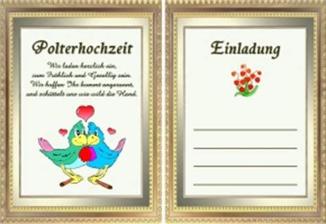 Einladung Zur Polterhochzeit by Polterhochzeit Einladungtexte