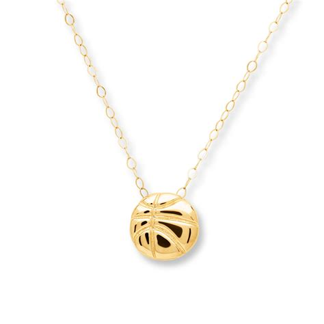 jared basketball necklace 14k yellow gold