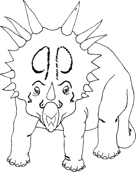 Coloring Pages of Dinosaurs: Triceratops, T Rex