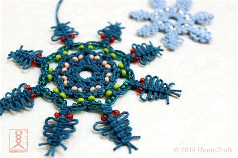 pattern macrame snowflake macrame snowflakes