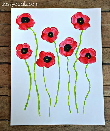 poppy crafts for fingerprint poppy flower craft for crafty morning