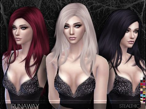 sims 4 female hairstyles the sims resource stealthic runaway female hair