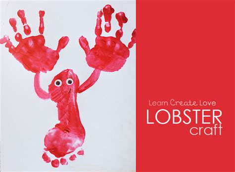 cute lobster pattern footprint lobster craft
