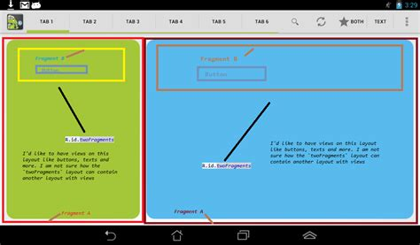 overlay layout java java overlay two layouts in one fragment stack overflow