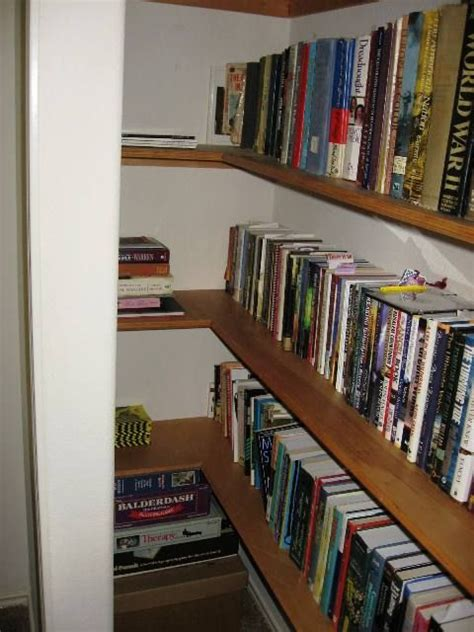convert closet into bookcase home