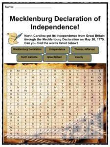 state  north carolina facts worksheets history  kids