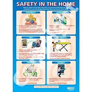 Child Safety At Home Essay by Safety In The Home Pshe Educational Wall Chart Poster In High Gloss Paper A1 840mm X 584mm