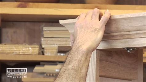 woodworking diy project installing crown molding