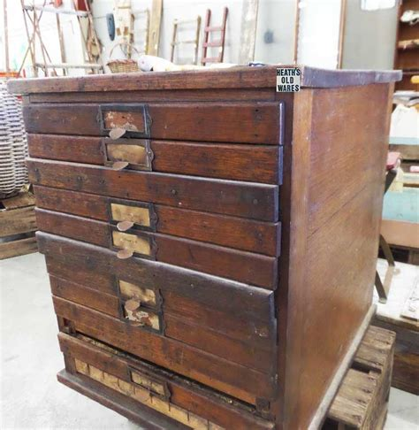 Printers Drawers For Sale by Heaths Wares Collectables Industrial Antiques