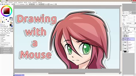paint tool sai tutorial for beginners using mouse tutorial drawing with a mouse sai