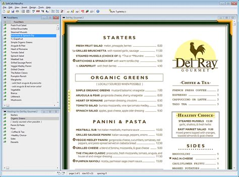 design online free 7 restaurant menu design software procedure template sle