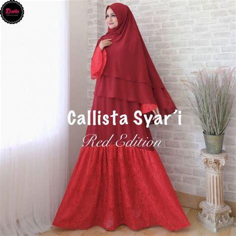 Calista Syari by Gamis Brokat Callista Syari Baju Muslim Pesta Besar