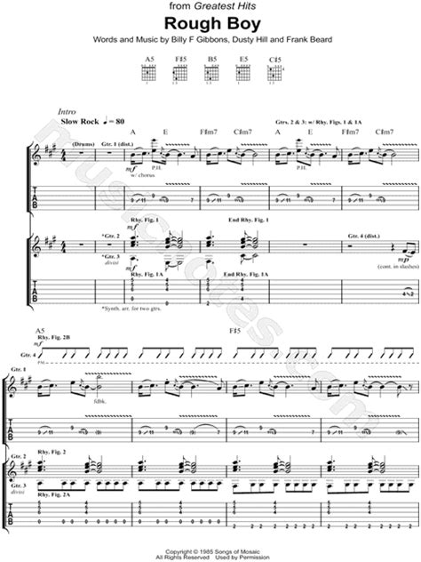 La Grange Chords And Lyrics by Zz Top Quot Boy Quot Guitar Tab In A Major