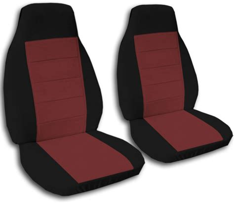 black car seat covers two tone car seat covers front semi custom black