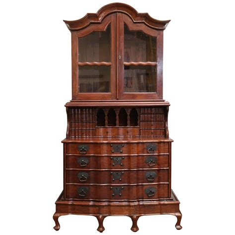 century superbly crafted solid nedun wood secretary
