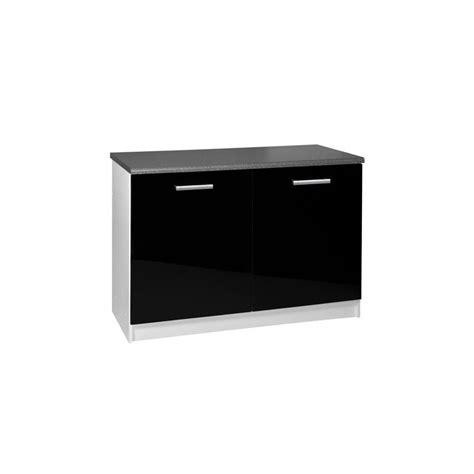 meuble de cuisine 120 cm meuble de cuisine bas 2 portes 120 cm tara laqu 233
