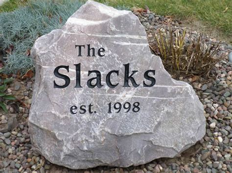 signs boulders and engraved address stones watertown wi