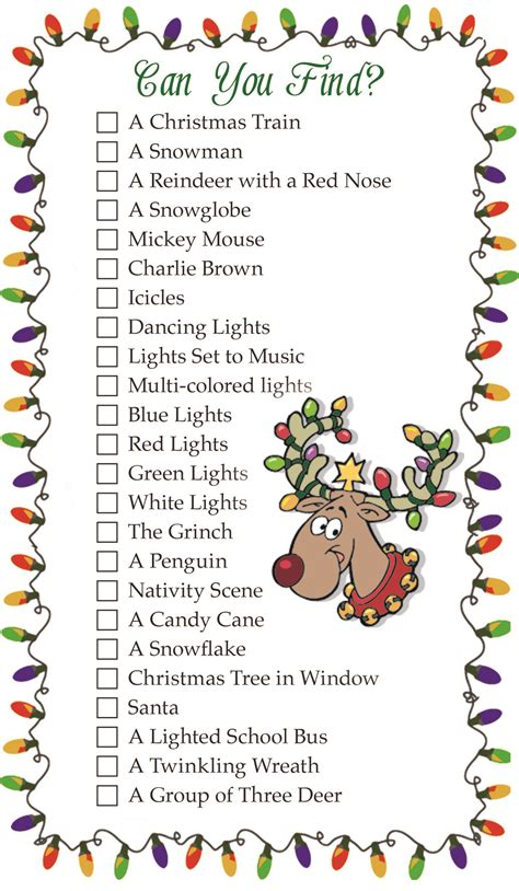 christmas lights scavenger hunt decoratingspecial com