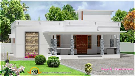 kerala home design 2d small house elevation with 3d rendering and 2d drawing kerala home design and floor plans