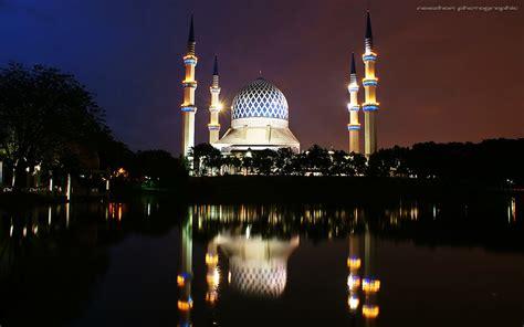 kaison wallpaper shah alam masjid sultan salahuddin abdul aziz shah shah alam nigh
